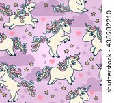 cute seamless pattern with... | Shutterstock .eps vector #438982210