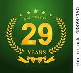 anniversary emblems 29... | Shutterstock .eps vector #438987190