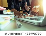 business documents on office... | Shutterstock . vector #438990730