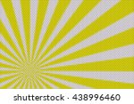 yellow and white rays from the... | Shutterstock . vector #438996460