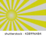 yellow and white rays and ball... | Shutterstock . vector #438996484