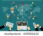 business brainstorming ideas... | Shutterstock .eps vector #439002610
