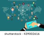 vector businessman... | Shutterstock .eps vector #439002616
