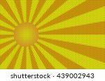 orange and yellow rays and ball ... | Shutterstock . vector #439002943