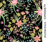 seamless ditsy. floral pattern. ... | Shutterstock .eps vector #439006879