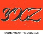 alphabet  x  y  z  calligraphy  ... | Shutterstock .eps vector #439007368
