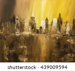 abstract city of acrylic... | Shutterstock . vector #439009594