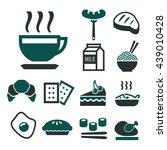 breakfast icon set | Shutterstock .eps vector #439010428