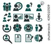 businessman icon set | Shutterstock .eps vector #439010509
