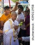 Small photo of Bangkok, Thailand Jun 19 2016 : series of the ordination ceremony that change the Thai young men to be the new monks at Wat Bung Thong Lang Temple Bangkok, Thailand on Jun 19 2016.
