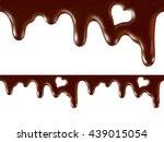 melted chocolate  seamless... | Shutterstock .eps vector #439015054