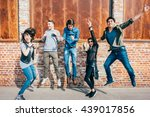 group of young beautiful... | Shutterstock . vector #439017856