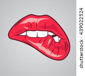 red sexy lips | Shutterstock .eps vector #439022524