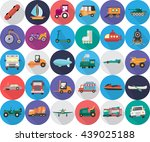 transportation icons | Shutterstock .eps vector #439025188
