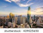 bangkok city at sunset ... | Shutterstock . vector #439025650