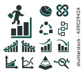 charts of business icon set