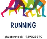 legs of side running. sport... | Shutterstock .eps vector #439029970