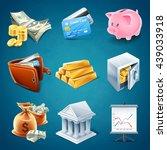 business set icons | Shutterstock .eps vector #439033918