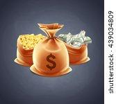 money bag | Shutterstock .eps vector #439034809