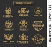 fitness logo set gym logo... | Shutterstock .eps vector #439044958