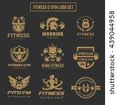 fitness logo set gym  warrior ...