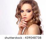 portrait of young beautiful...   Shutterstock . vector #439048738