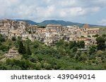 the village of stilo and its... | Shutterstock . vector #439049014