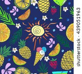 hand drawn colorful  vector... | Shutterstock .eps vector #439051963