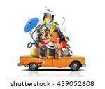 vacation and travel  a huge... | Shutterstock . vector #439052608