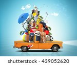 vacation and travel  a huge... | Shutterstock . vector #439052620