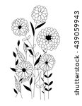 hand drawn floral card with...   Shutterstock .eps vector #439059943