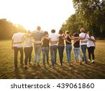 large group of friends together ... | Shutterstock . vector #439061860