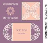 diy laser cutting vector... | Shutterstock .eps vector #439061878