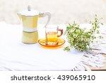 a mug of coffee and tea cup