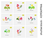 vector floral icon set.... | Shutterstock .eps vector #439069966