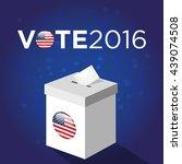 presidential election day 2016... | Shutterstock .eps vector #439074508