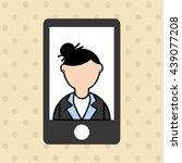smartphone user design  | Shutterstock .eps vector #439077208