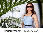 portrait sexy beautiful woman... | Shutterstock . vector #439077964