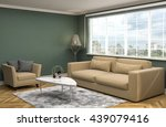 interior with sofa. 3d... | Shutterstock . vector #439079416