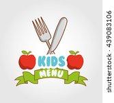 kids menu design  | Shutterstock .eps vector #439083106