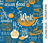seamless background with wok... | Shutterstock .eps vector #439089598