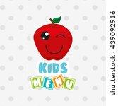 kids menu design  | Shutterstock .eps vector #439092916