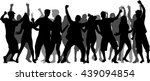 dancing people silhouettes.... | Shutterstock .eps vector #439094854