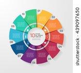 vector circle infographic... | Shutterstock .eps vector #439097650