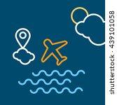 airplane flying   Shutterstock .eps vector #439101058