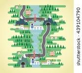 hydro energy in flat design | Shutterstock .eps vector #439104790
