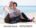 mature american couple smiling... | Shutterstock . vector #439104829