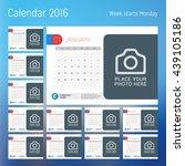Calendar For 2016 Year. Vector...