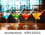 multicolored cocktails at the... | Shutterstock . vector #439110313