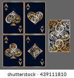 Four Aces. Set Of Vector...